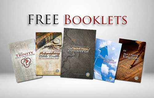 Free booklets and Bible literature