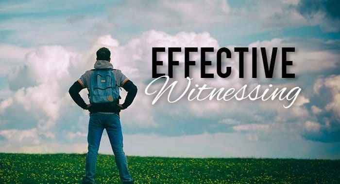 effective witnessing; witnessing the truth; professing the truth; how to witness; how to preach; how to teach the bible