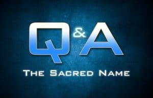 Yahweh's name Gods name
