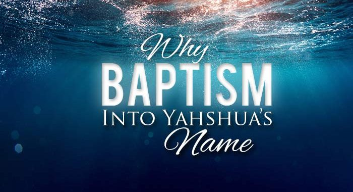 baptism; baptize; baptize sacred names; baptise in yeshua's name; is baptism important