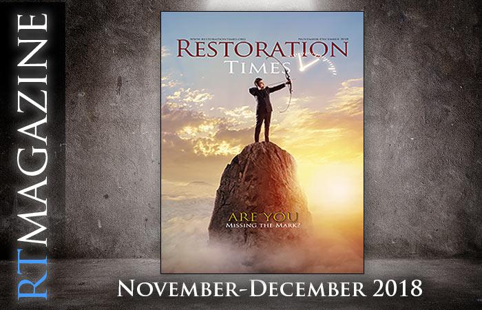 Restoration Times magazine november december 2018